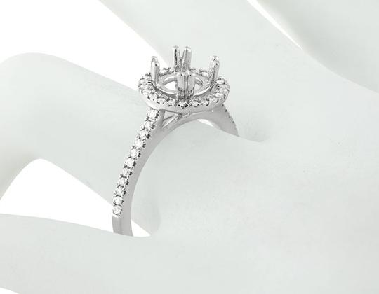 Jewelry Unlimited Halo Semi Mount Solitaire Diamond Engagement Bridal Ring 0.52ct Image 2