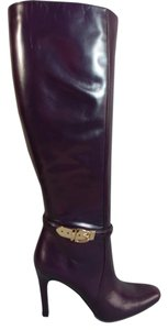 Gucci New Smooth Leather Aubergine Boots