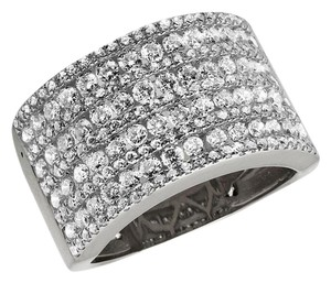 Jewelry Unlimited Ladies XL Multi Rows Genuine Diamond Engagement Ring Band 1.0ct