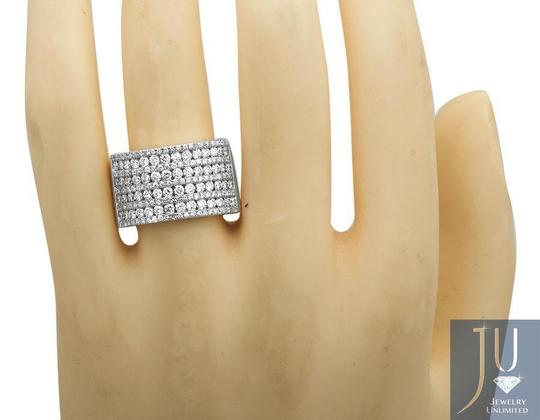 Jewelry Unlimited Ladies XL Multi Rows Genuine Diamond Engagement Ring Band 1.0ct Image 1