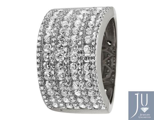 Jewelry Unlimited Ladies XL Multi Rows Genuine Diamond Engagement Ring Band 1.0ct Image 2