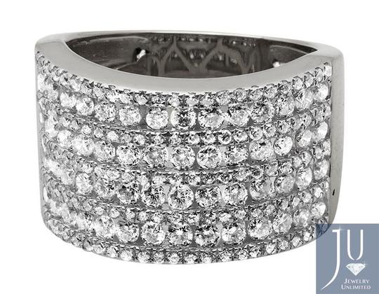 Jewelry Unlimited Ladies XL Multi Rows Genuine Diamond Engagement Ring Band 1.0ct Image 4