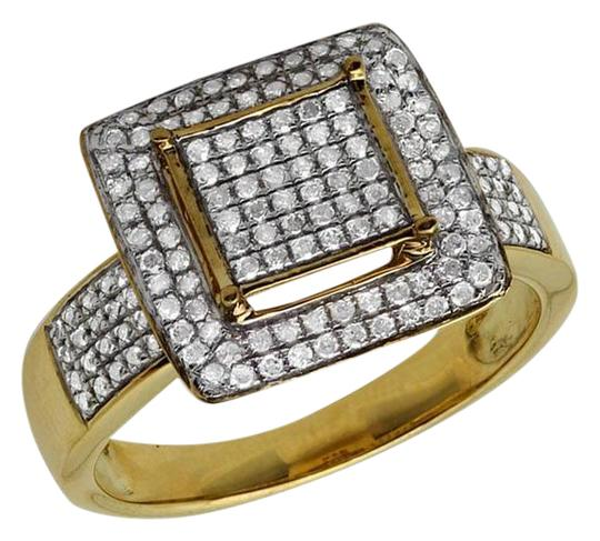 Jewelry Unlimited Ladies Square Frame Real Diamond Statement Wedding Ring 0.51ct Image 0
