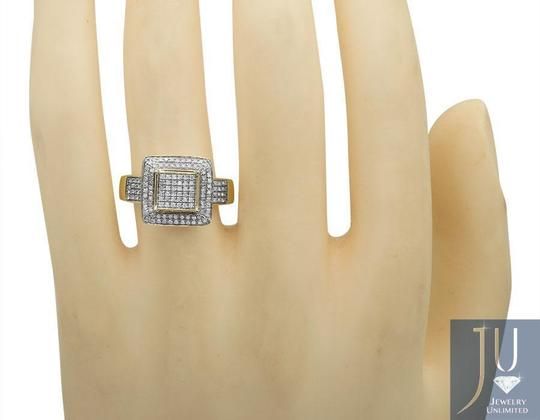 Jewelry Unlimited Ladies Square Frame Real Diamond Statement Wedding Ring 0.51ct Image 2