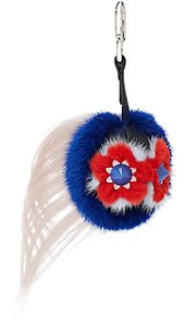 Fendi Blossy Mini Flower Monster Fur Keychain