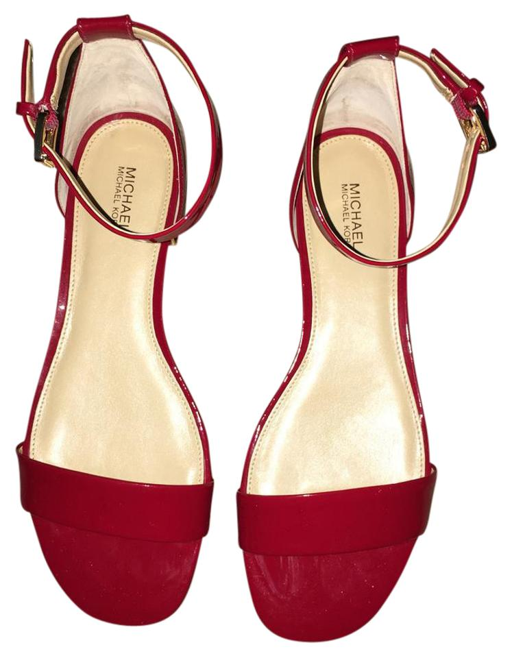 bdf2d5528fbb Michael Kors Red Joy Flat Sandals Size US 8.5 Regular (M