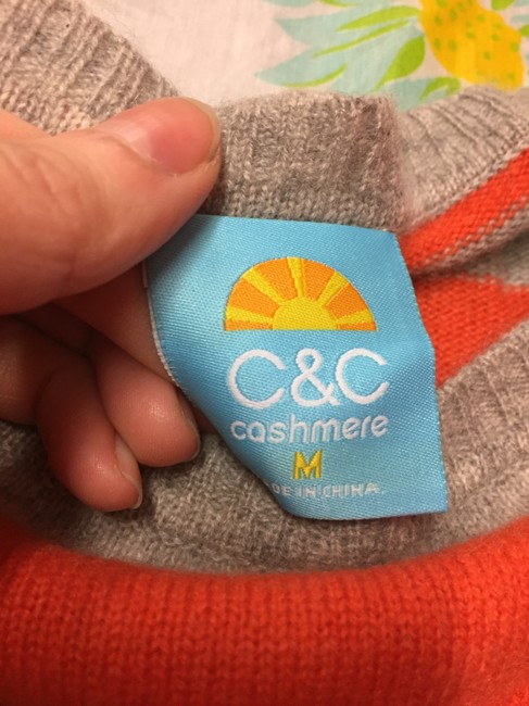 C&C California Pullover Cashmere Sweater Striped Tunic Image 1