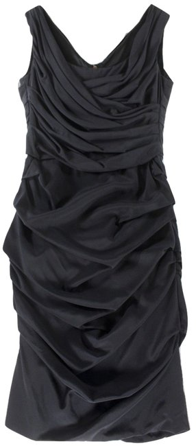 Preload https://img-static.tradesy.com/item/21463633/dolce-and-gabbana-black-rucheddraped-silk-40-short-casual-dress-size-4-s-0-1-650-650.jpg