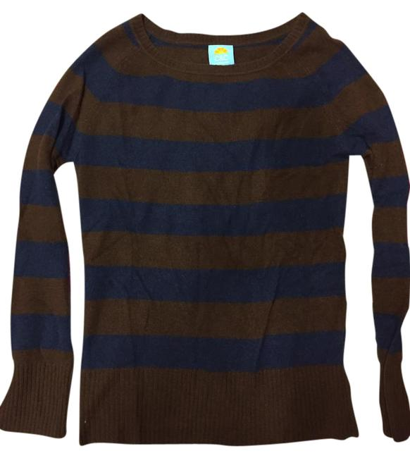 Preload https://img-static.tradesy.com/item/21463720/c-and-c-california-brown-navy-striped-cashmere-sweater-dress-tunic-size-8-m-0-1-650-650.jpg