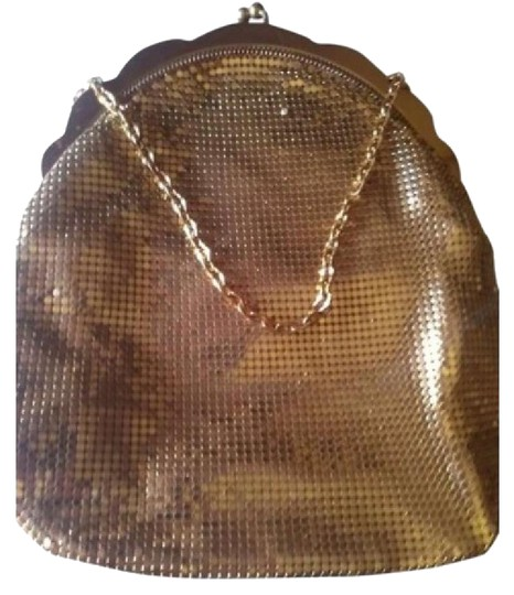 Whiting & Davis Satchel in Gold Image 1