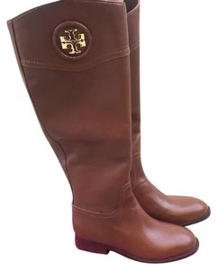 Tory Burch Junction Riding Tall Brown Boots