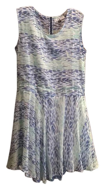 Preload https://img-static.tradesy.com/item/21463859/bluemintwhite-bluegreen-printed-fit-and-flare-mid-length-short-casual-dress-size-12-l-0-2-650-650.jpg