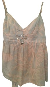 Rebecca Taylor Front Beading Pink&gray Camisole Stylish Top gray