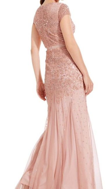 Adrianna Papell Embellished Beaded Sequin Mesh Dress Image 1