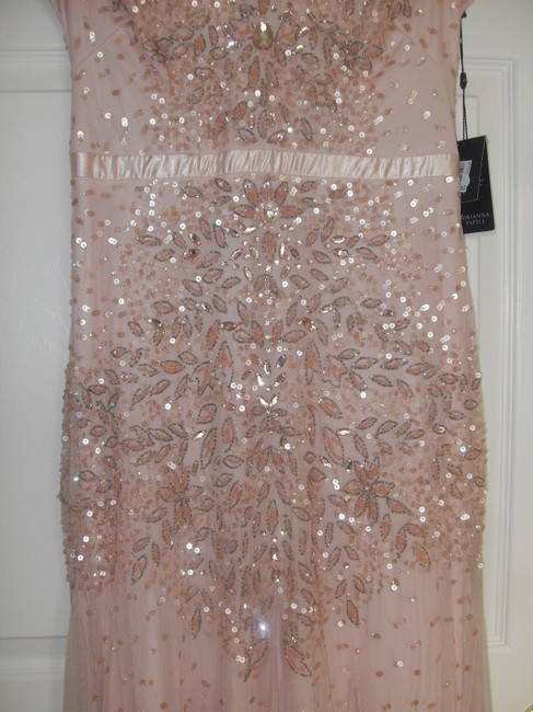 Adrianna Papell Embellished Beaded Sequin Mesh Dress Image 4