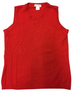 Barneys New York Vest Sweater Cashmere Barneysnewyork Top Orange