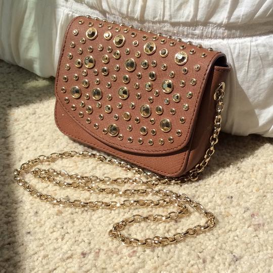Juicy Couture Clutch Sparkle Gold Cross Body Bag Image 1