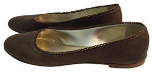 TAPEET BY VICINI Leather Olive Green Flats