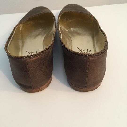 TAPEET BY VICINI Ballet Leather Olive Green Flats Image 1