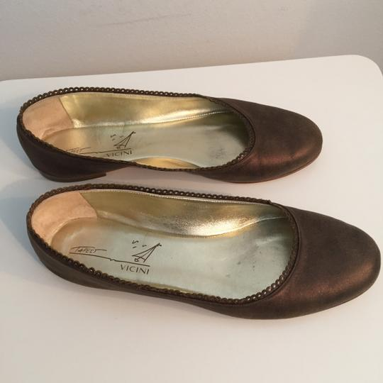TAPEET BY VICINI Ballet Leather Olive Green Flats Image 2