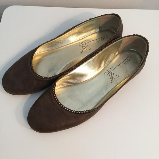 TAPEET BY VICINI Ballet Leather Olive Green Flats Image 3