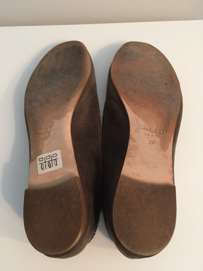 TAPEET BY VICINI Ballet Leather Olive Green Flats Image 4