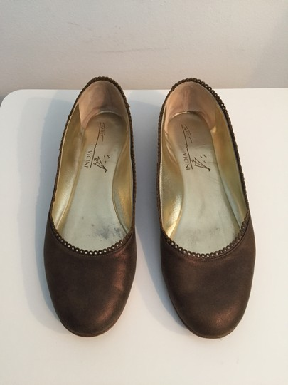 TAPEET BY VICINI Ballet Leather Olive Green Flats Image 6