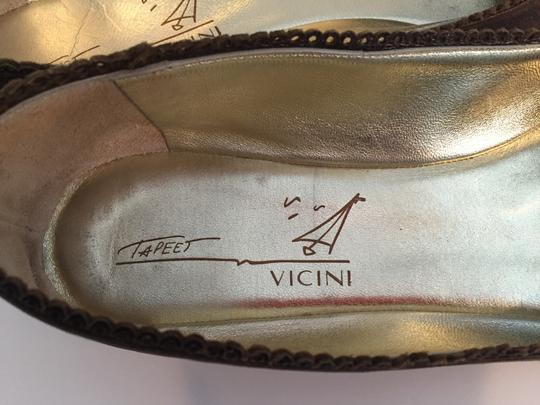TAPEET BY VICINI Ballet Leather Olive Green Flats Image 7