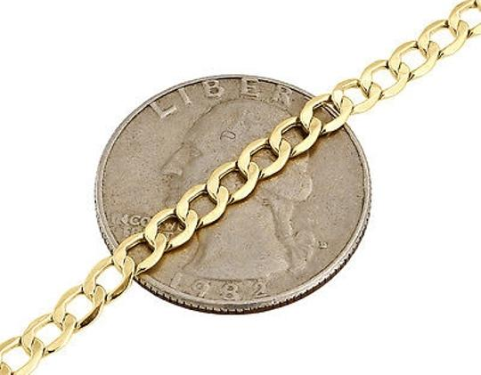 Other Mens Or Ladies 10k Yellow Gold Flat Cuban Curb 3.75 Mm Link Bracelet 8-10 Inches
