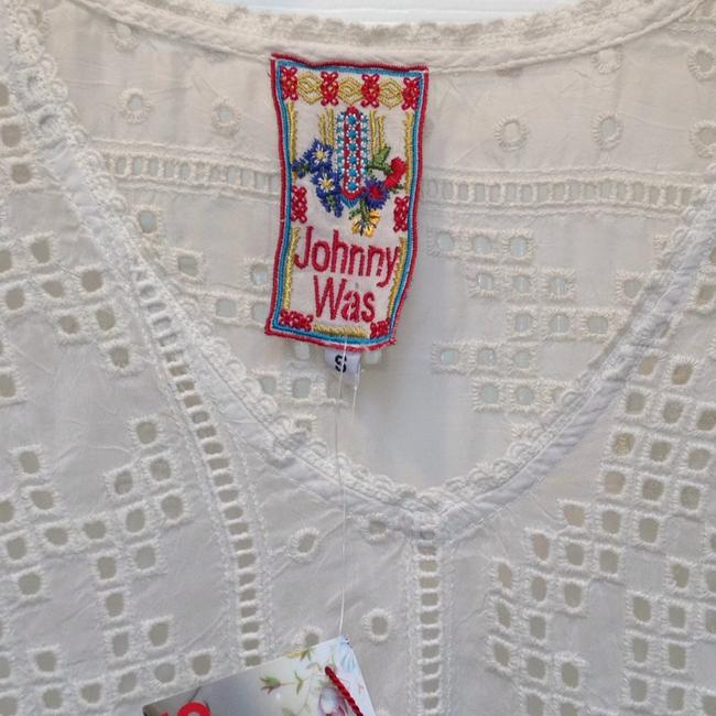 Johnny Was V-neck Embroidered Geometric Rayon Tunic Image 2