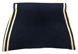 Juicy Couture Cashmere Track Mini Skirt Navy White