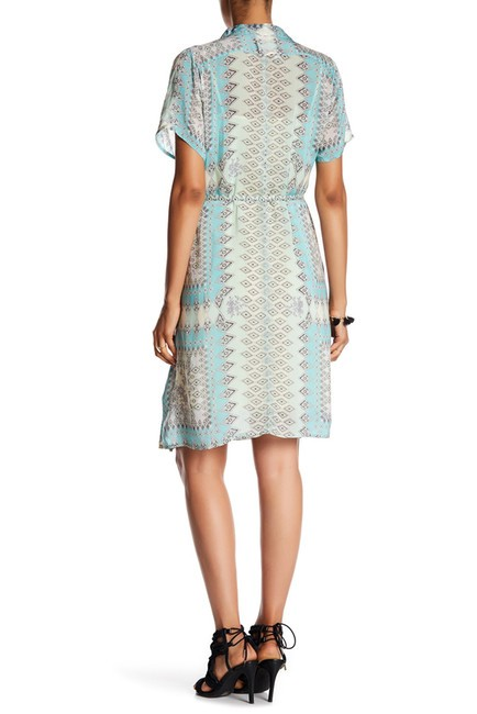 Johnny Was Rayon Short Sleeve Button Down Print Spread Collar Dress Image 7