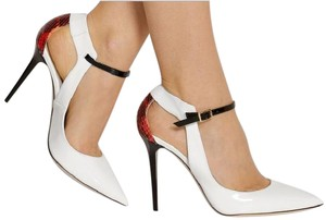 Jimmy Choo White, Red and Black Pumps