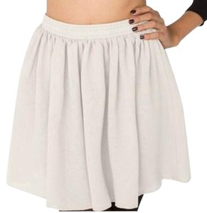 American Apparel Mini Skirt cream offwhite white