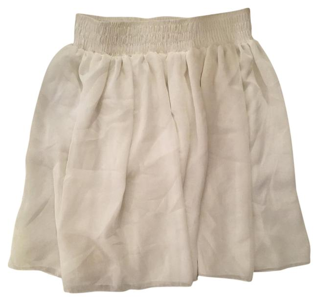 American Apparel Mini Skirt cream offwhite white Image 1