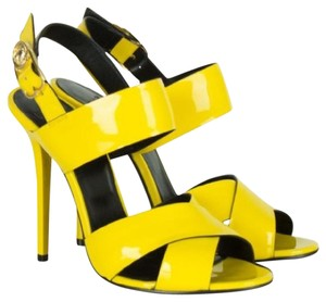 Versace Patent Leather Yellow Sandals