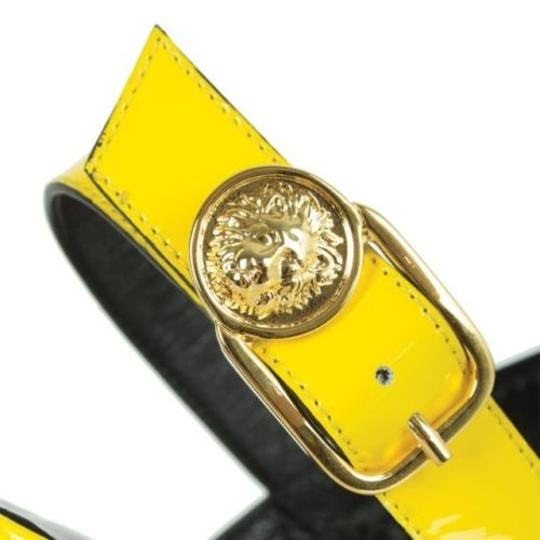 Versace Patent Leather Yellow Sandals Image 2