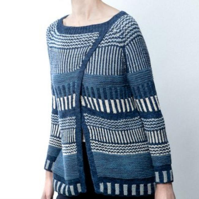 KNITBRARY Hand Knit Limited Edition Alpaca Cotton Cardigan Image 1