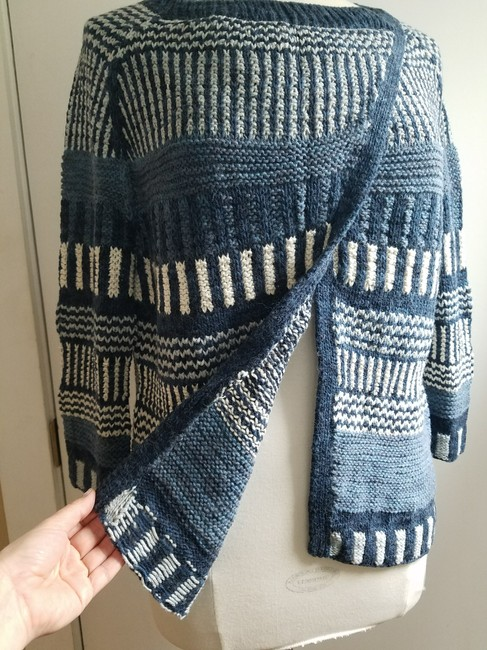 KNITBRARY Hand Knit Limited Edition Alpaca Cotton Cardigan Image 3