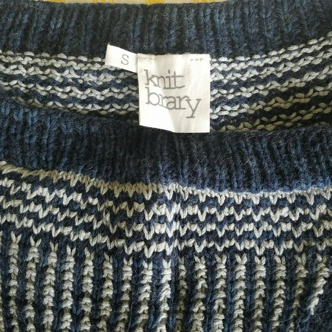 KNITBRARY Hand Knit Limited Edition Alpaca Cotton Cardigan Image 5