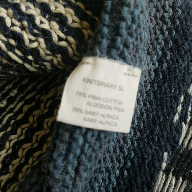 KNITBRARY Hand Knit Limited Edition Alpaca Cotton Cardigan Image 6