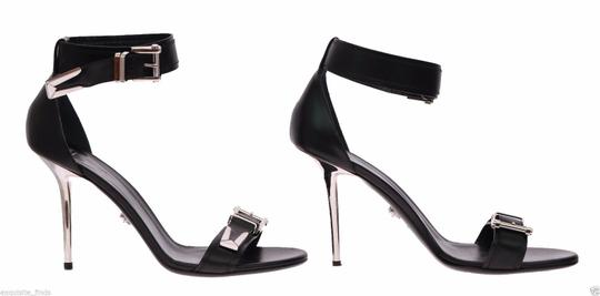 Versace Leather Black Sandals Image 4