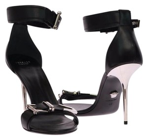 Versace Leather Black Sandals