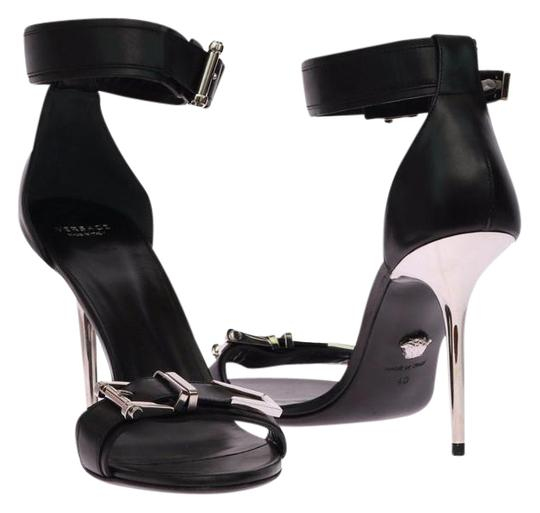 Preload https://img-static.tradesy.com/item/21464681/versace-black-new-leather-with-metallic-stiletto-heel-sandals-size-us-11-0-2-540-540.jpg