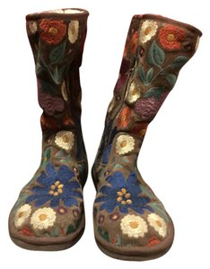 UGG Australia Snowboot Multicolor Brown Boot With Embroidery Boots