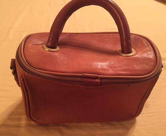 Handmade leather Satchel in Tan Image 4