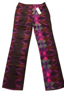 Emilio Pucci Corduroy Patterned Straightcut Straight Pants Multicolored