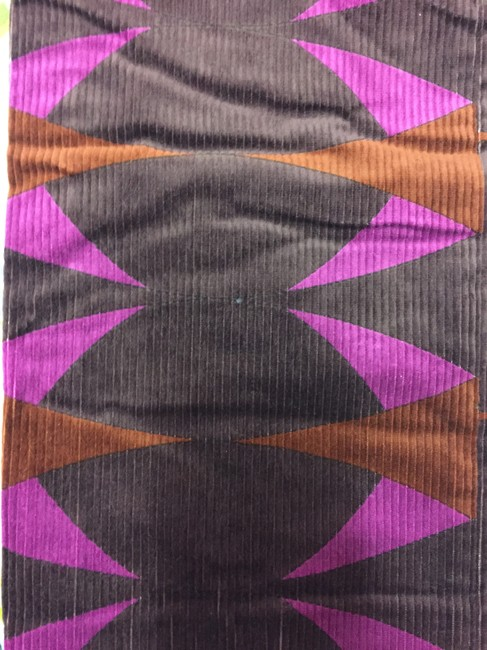 Emilio Pucci Corduroy Patterned Straightcut Straight Pants Multicolored Image 2