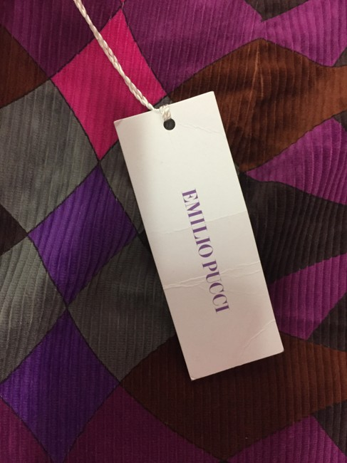 Emilio Pucci Corduroy Patterned Straightcut Straight Pants Multicolored Image 4
