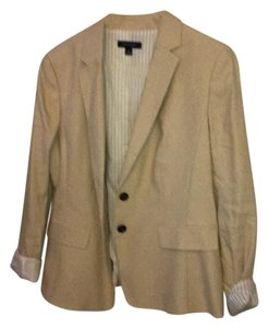 Ann Taylor Two Button Tan Suit Jacket